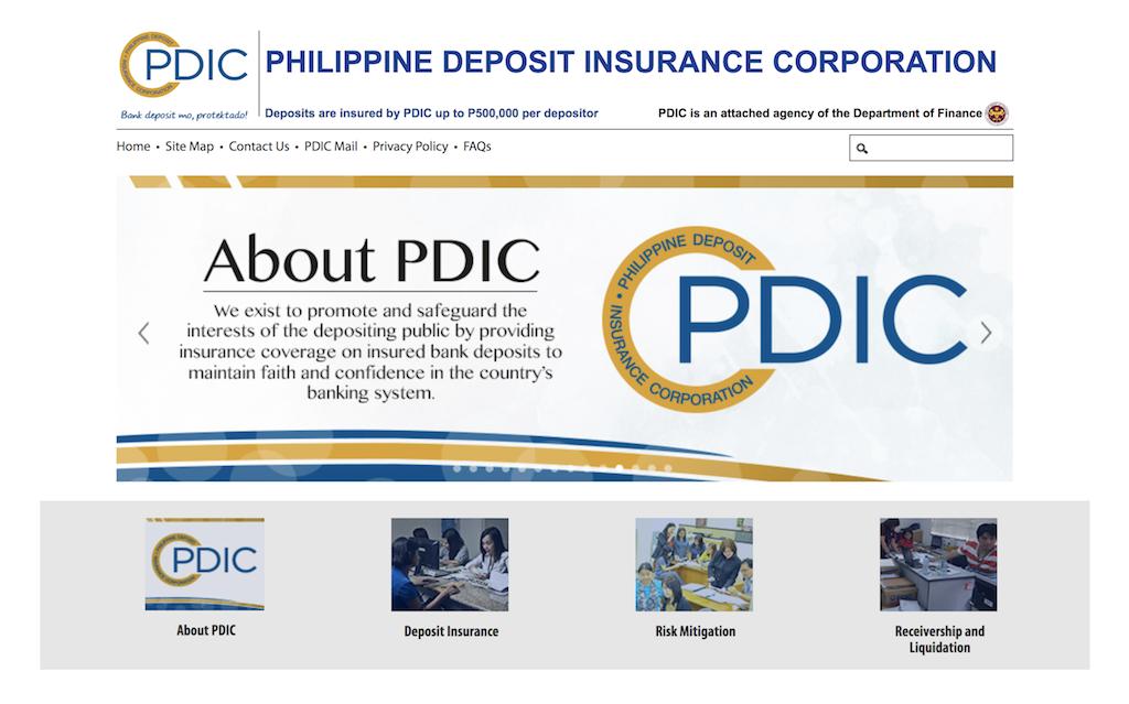 フィリピンのペイオフ制度「pdic」について