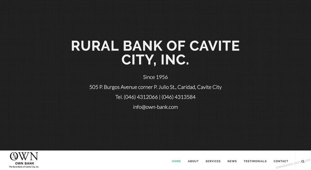 オウン銀行はルーラルバンクオフカヴィテシティと言います