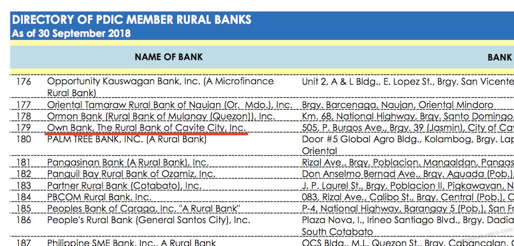 オウンバンクはペイオフ加入済みの正規の銀行