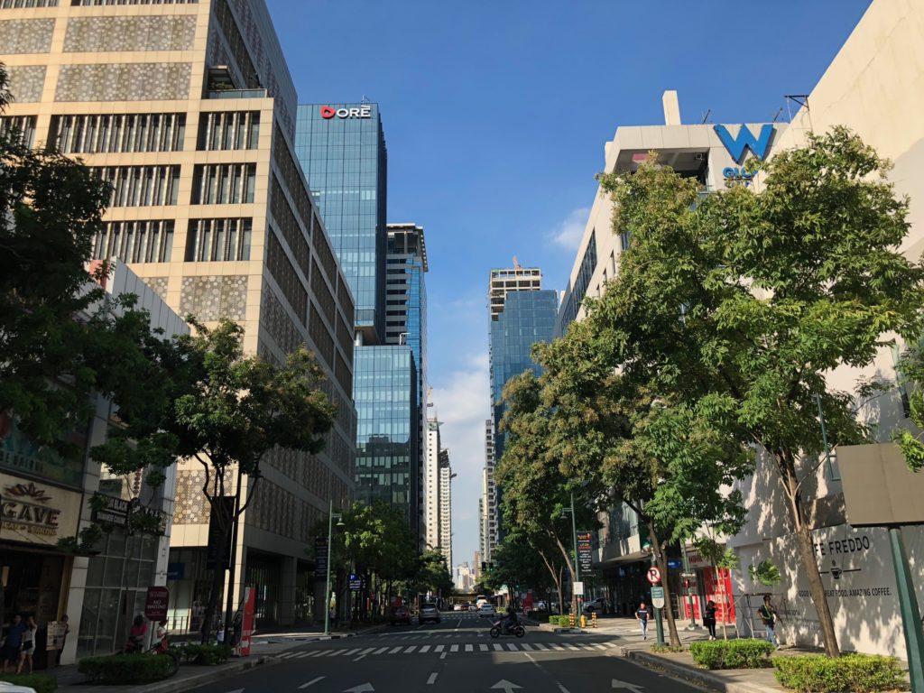 フィリピンのグローバルシティの街並み